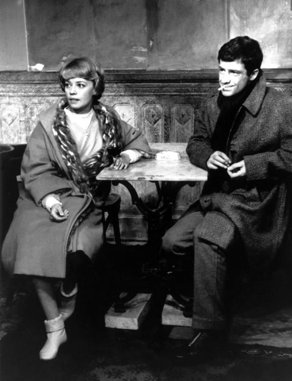 """С актрисой Жанной Моро на съемках фильма """"7 дней, 7 ночей"""", 1960"""
