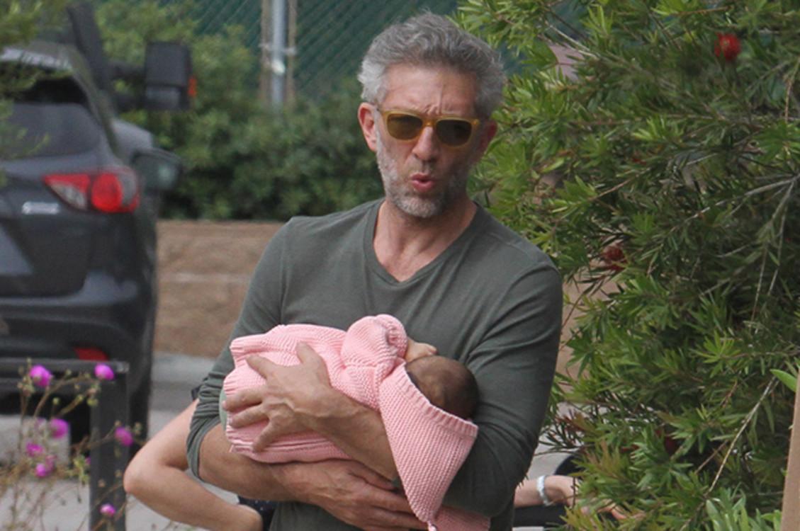Венсан Кассель с дочерью