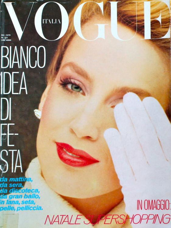 Джерри Холл, Vogue Italia, декабрь 1979. Фото: Peter Lindbergh