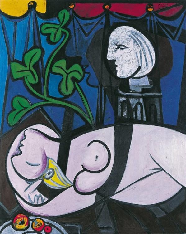 """""""Оголена, зелене листя і бюст"""", 1932"""