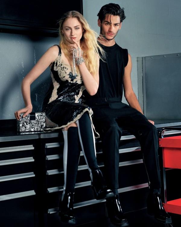 Софи Тернер в рекламной кампании Louis Vuitton