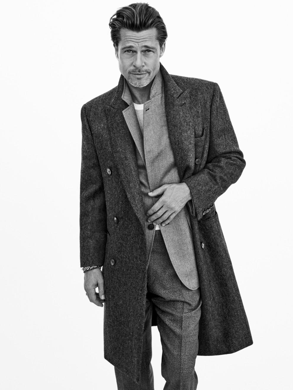 Брэд Питт в рекламной кампании Brioni Tailoring Legends осень-зима 2020/2021