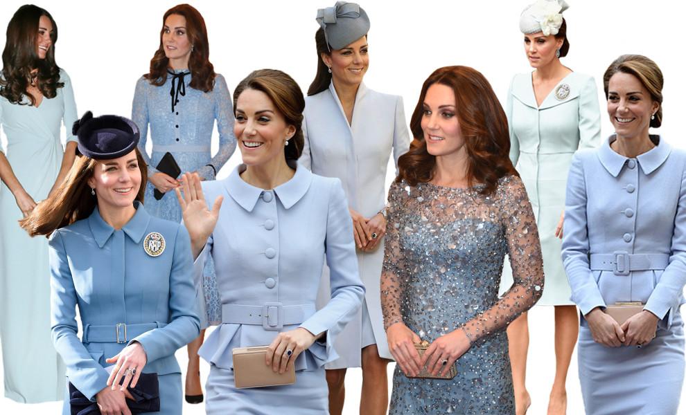 Кейт Мидлтон в голубых нарядах