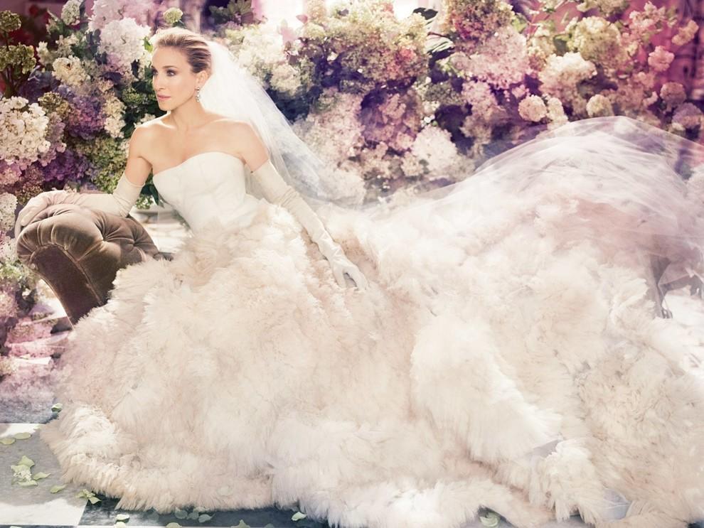 d24f393662cbd0 Найкращі весільні сукні зірок від Vera Wang   Vogue Ukraine - Vogue UA