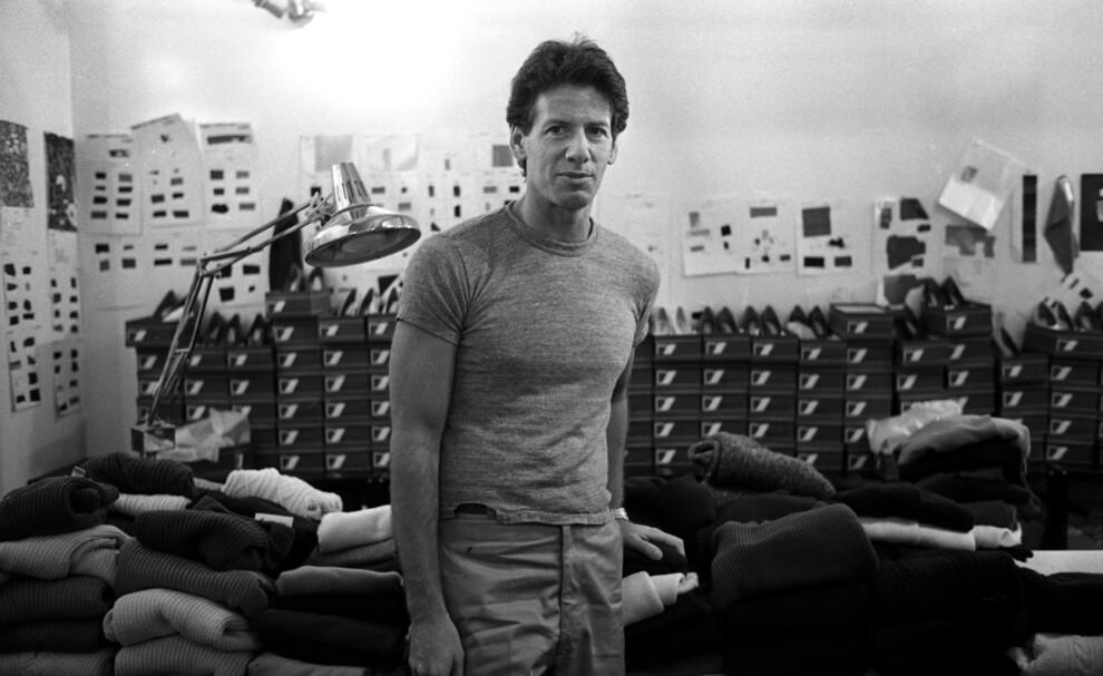 Кельвин Кляйн в своей студии на 7-й авеню во время показа осенней коллекции в Нью-Йорке, 1980