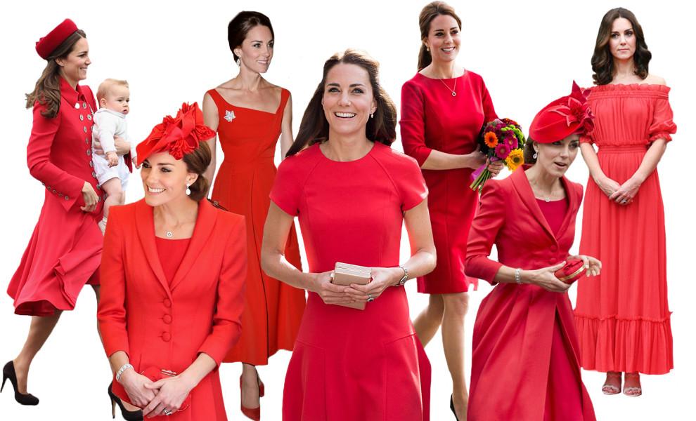 Кейт Мидлтон в красных нарядах