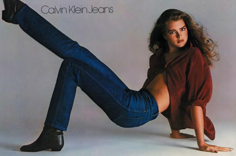 Брук Шилдс в кампейне Calvin Klein Jeans