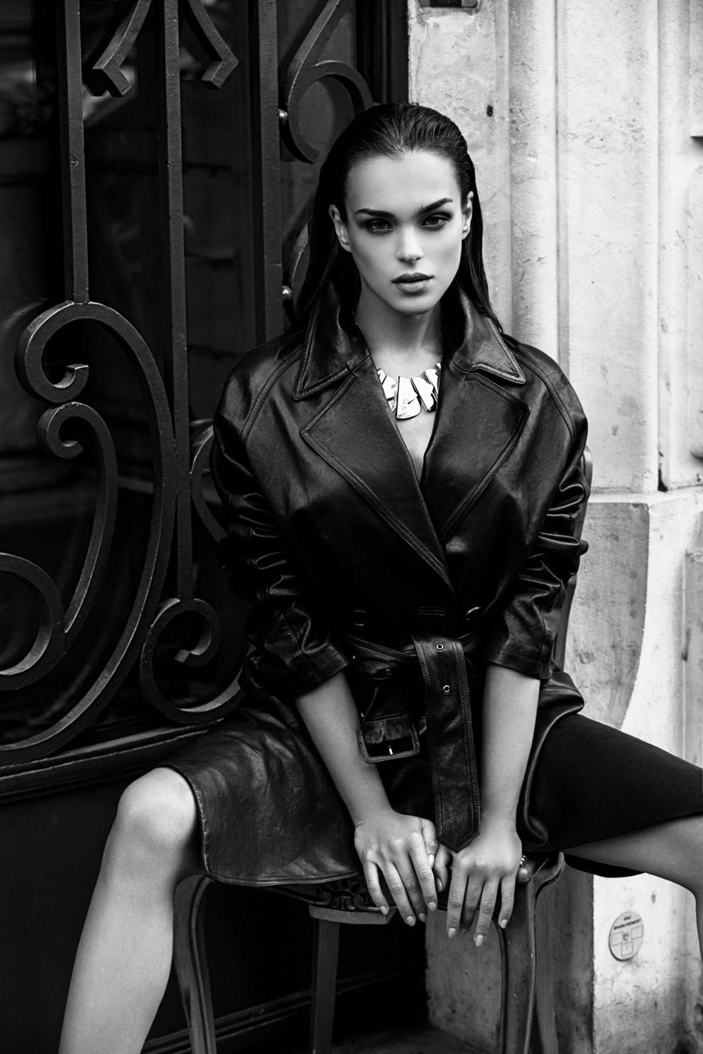 фото моделей черно белые