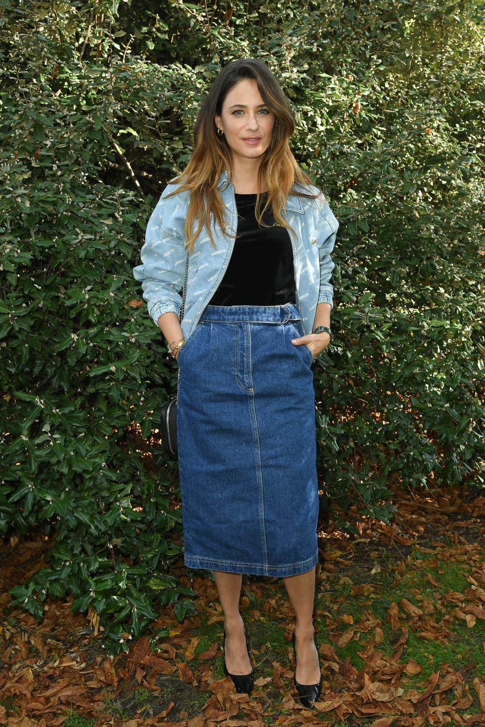Актриса Мелани Бернье во время Недели моды в Париже