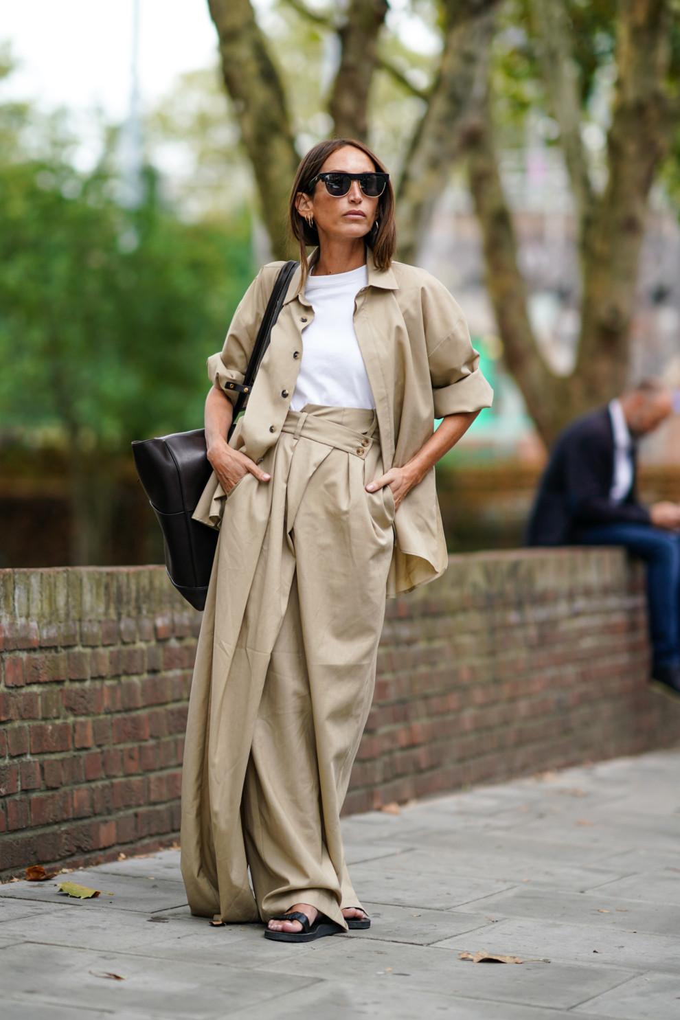 Хлоя Харруш во время Недели моды в Лондоне, сентябрь 2019