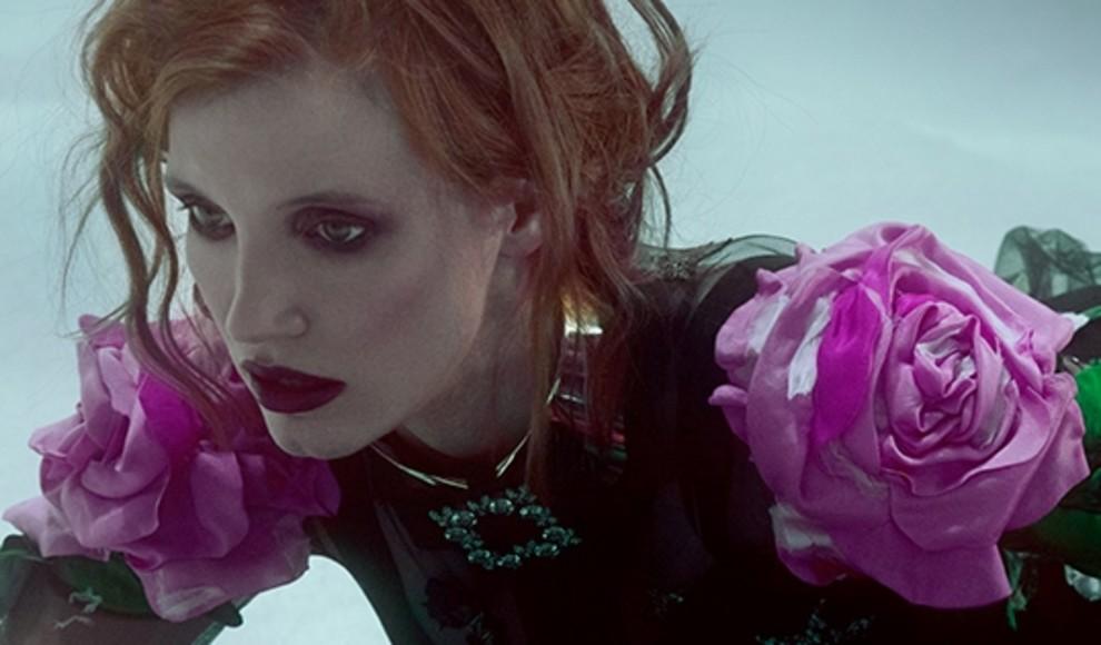 За кадром: Джессика Честейн в съемке для Vogue UA