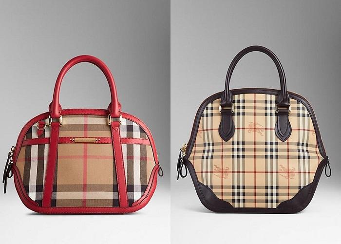 Новая коллекция сумок от Burberry / сумка в клетку