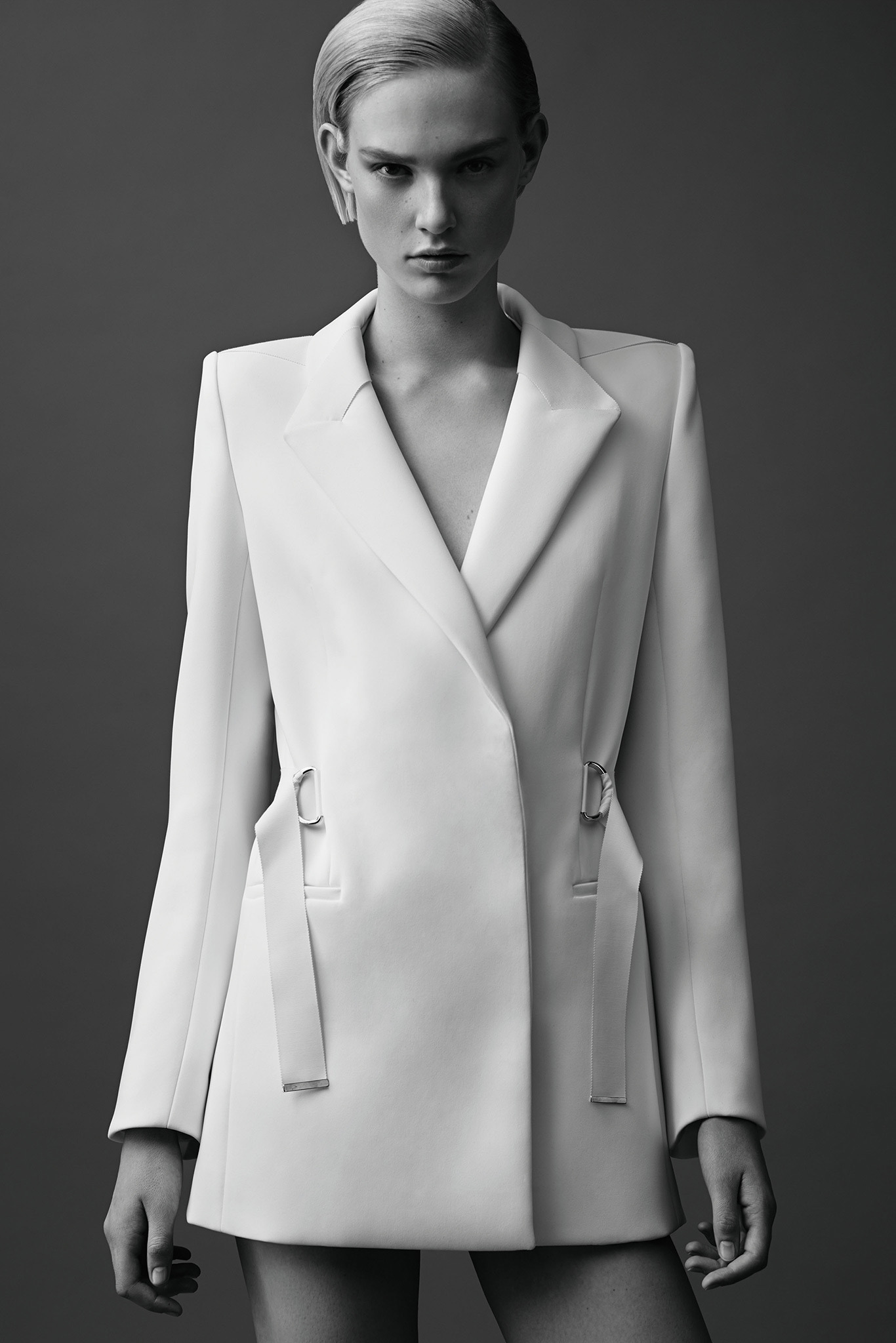 белый жакет Mugler Resort 2015