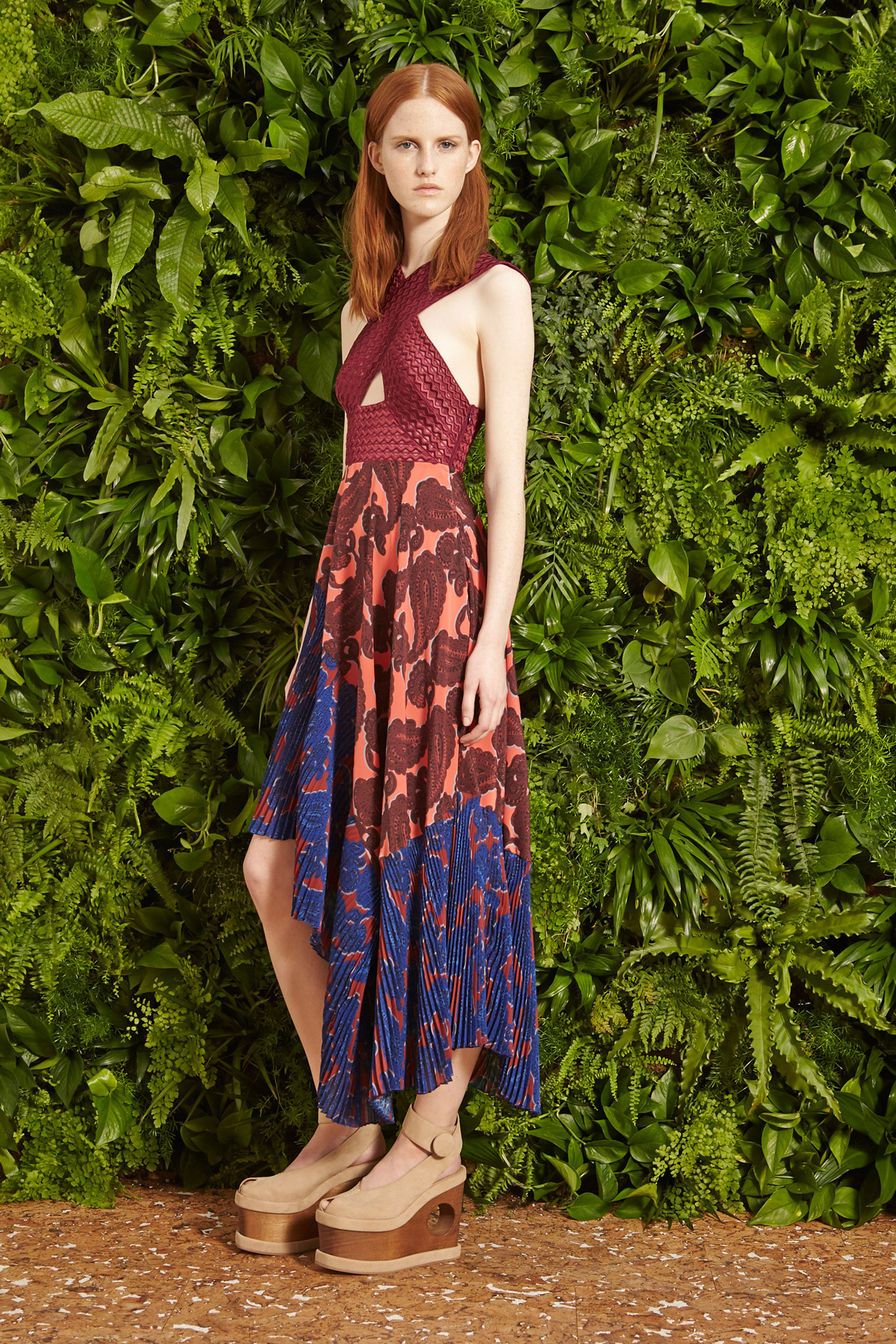 пестрый сарафан Stella McCartney Resort 2015