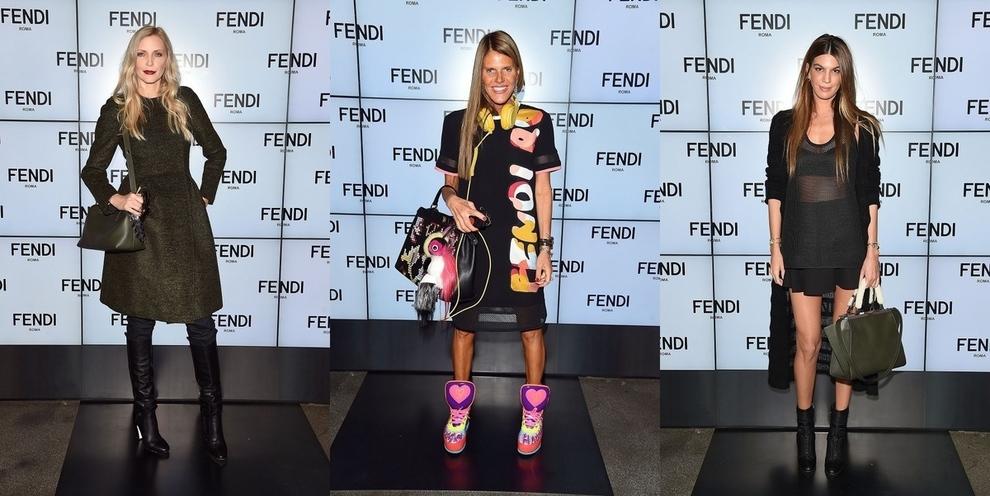 Гости показа Fendi весна-лето 2015 в Милане