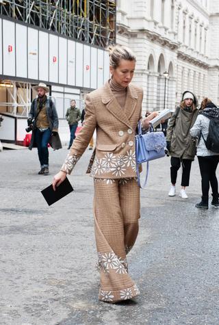 Streetstyle: неделя моды в Лондоне осень-зима 2015/2016