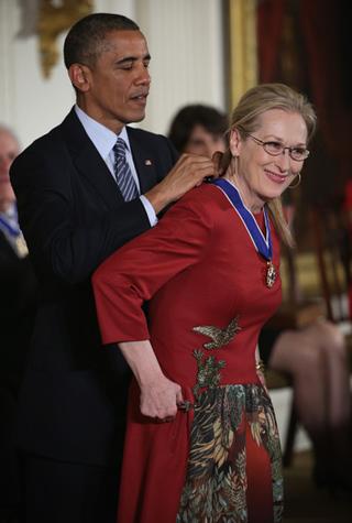 Барак Обама вручил награду Мэрил Стрип