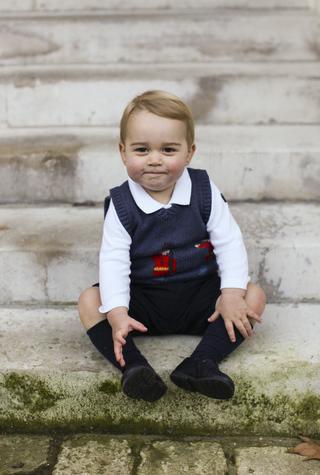 Рождественские фотографии принца Георга