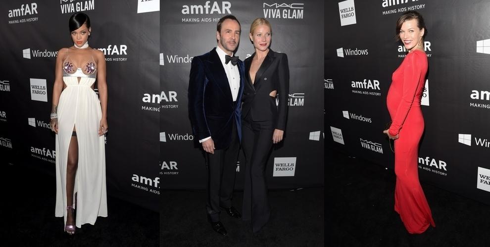 Знаменитости на гала-вечере amfAR Inspiration Gala