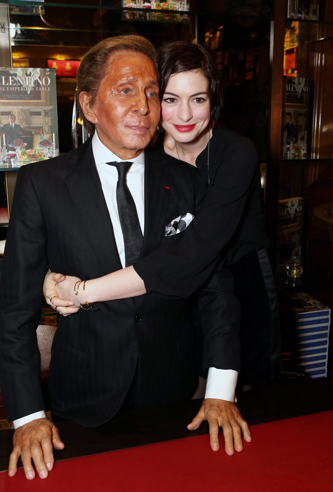Valentino and Anne Hathaway