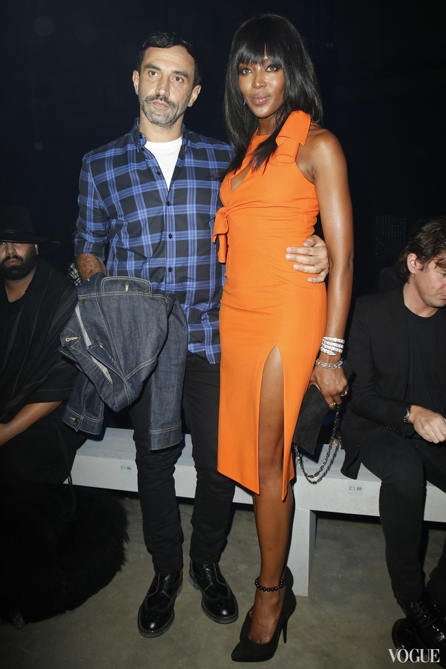Riccardo Tisci and Naomi Campbell