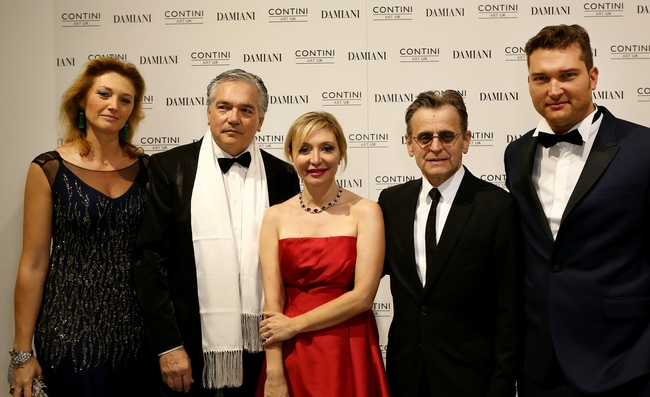 From left: Riccarda Contini, gallery director Stefano Contini, Silvia Damiani, artist Mikhail Baryshnikov and gallery director Christian Contini at the Dancing Awayphotographic exhibition by Mikhail Baryshnikovcredit: Damiani