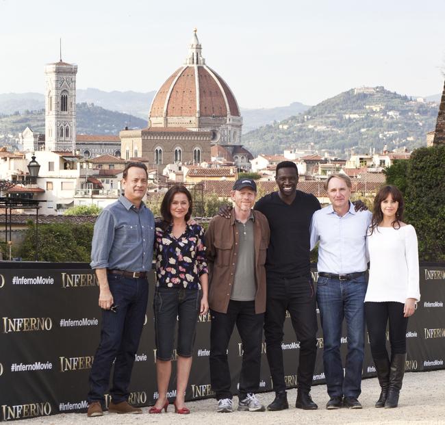 Команда фильма во время фотоколла во Флоренции
