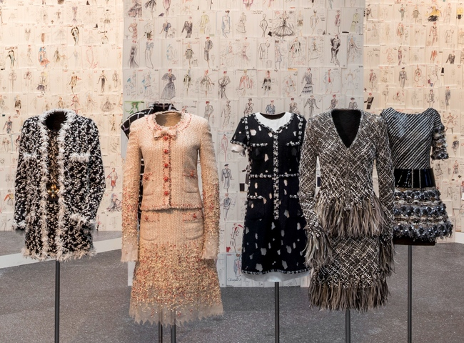 'The reinvention of tweed', from weave to embroidery