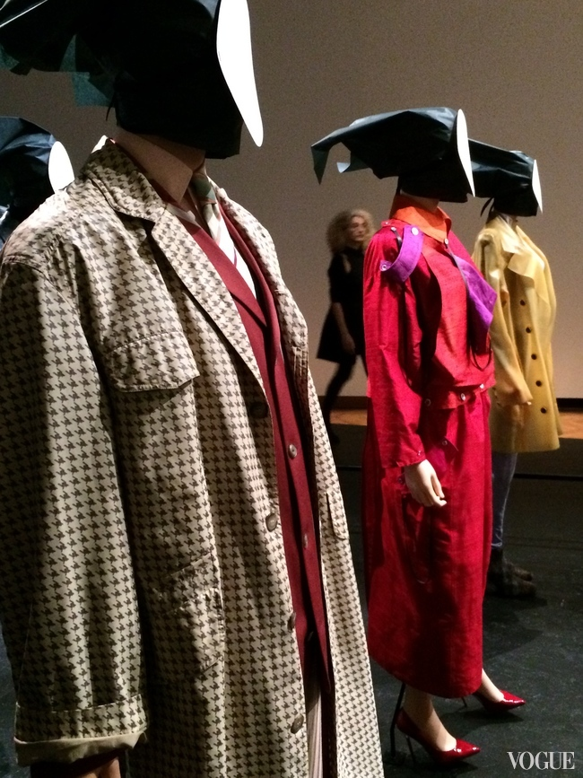 Dries van Noten mens rain coat at Bozar Brussels