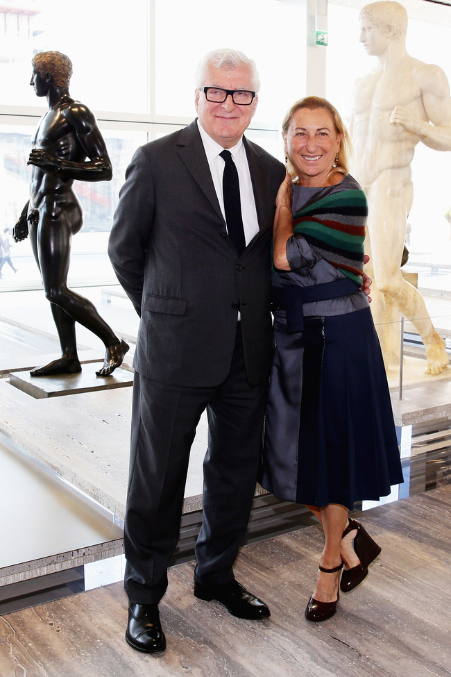 Miuccia Prada and her husband Patrizio Bertelli