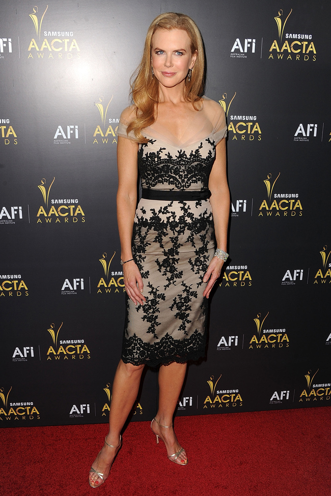 Nicole Kidman attends the 2012 Australian Academy Of Cinema And Television Arts Awards in Collette Dinnigan