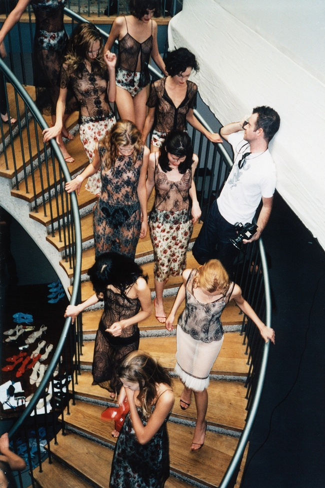 Backstage at a Collette Dinnigan show, photographed by Seamus Dinnigan