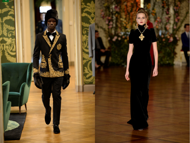 Dolce & Gabbana's Alta Sartoria, left, and Alta Moda, right
