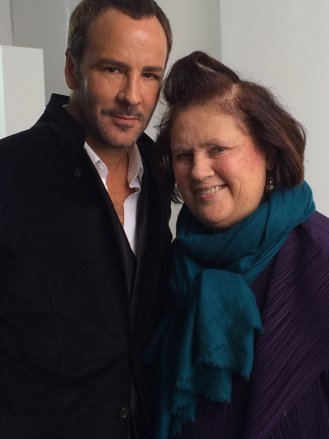 Tom Ford and Suzy Menkes