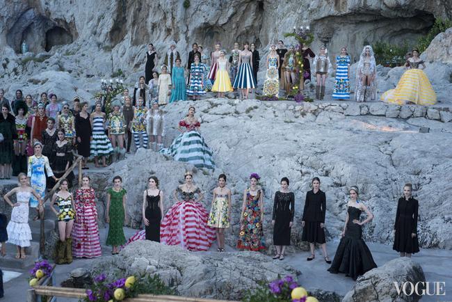 Dolce & Gabbana осень/зима 2014, показ Alta Moda на Капри