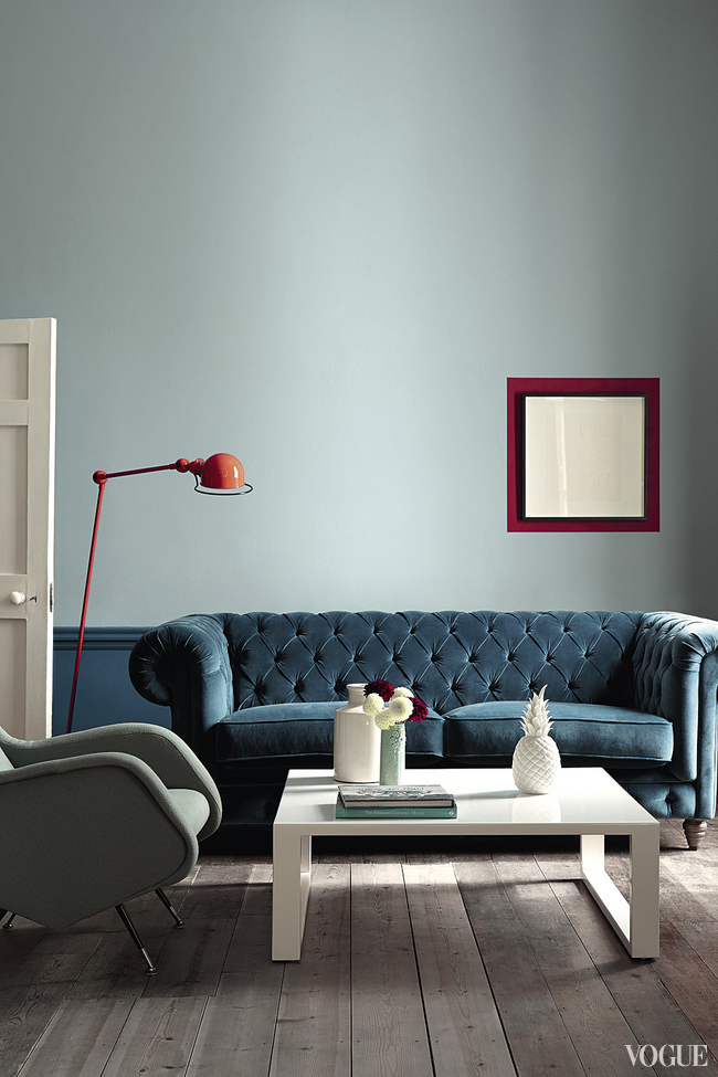 Оттенки Brighton  и Marine Blue,  краски Little Greene