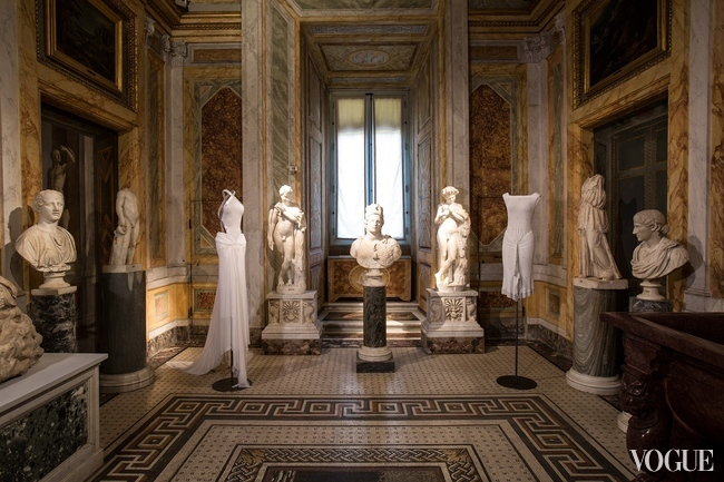 About 60 dresses on display at Rome's Borghese Gallery