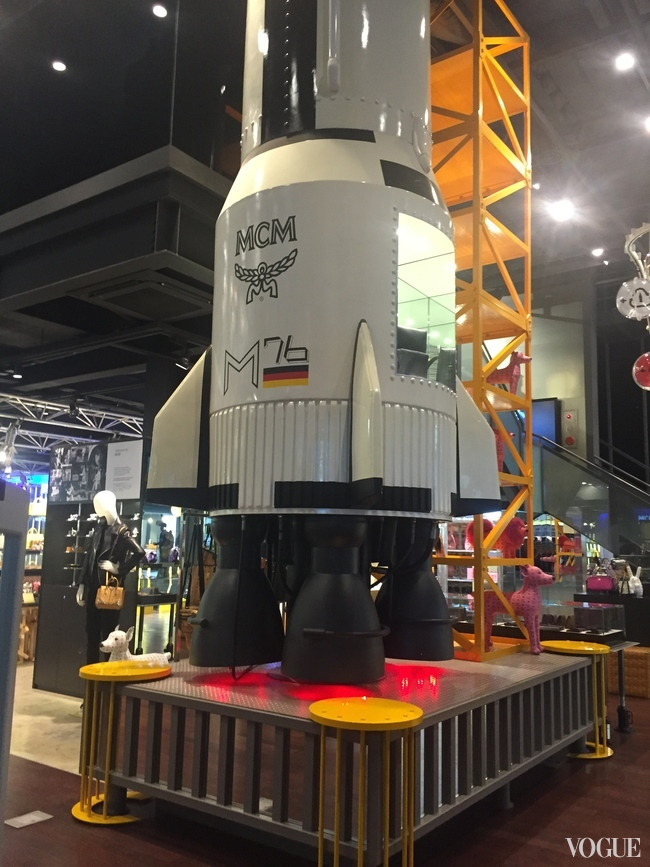 The MCM store in Myeongdong, which has a spaceship on display