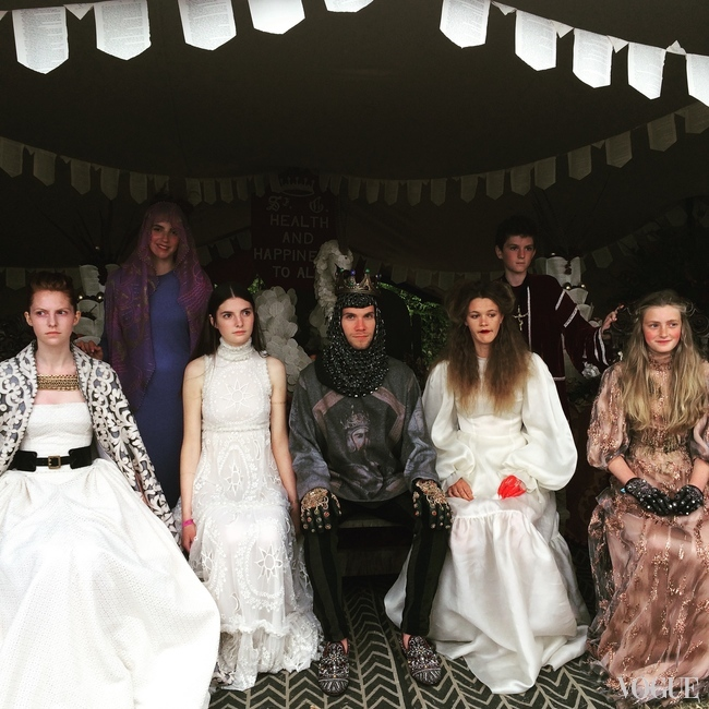 Mediaeval fashion show at the Port Eliot Festival