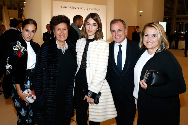 From left: Delfina Delettrez, Carla Fendi, Sofia Coppola, Louis Vuitton's chairman and CEO Michael Burke, and Silvia Fendi