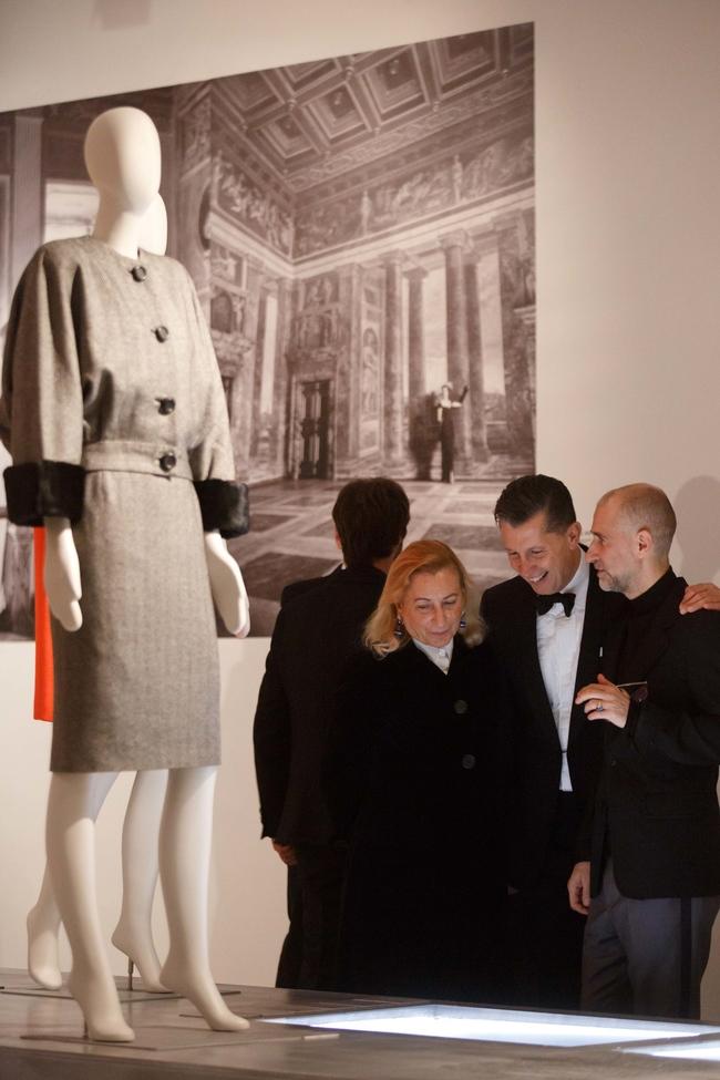 Miuccia Prada and Stefano Tonchi admire the exhibition