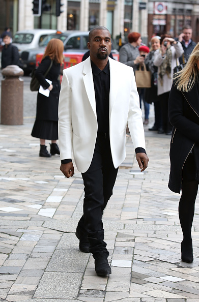 Kanye West at Louise Wilsons memorial service, London