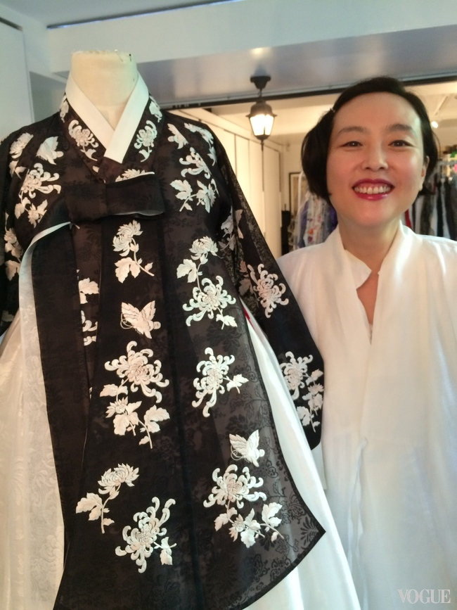Kim Young-Jin designs traditional Hanbok dress