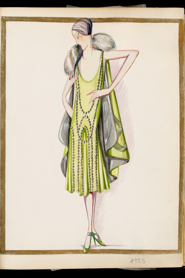 Lanvin Gouache illustration, 'Lesbos & Claire de lune', 1925