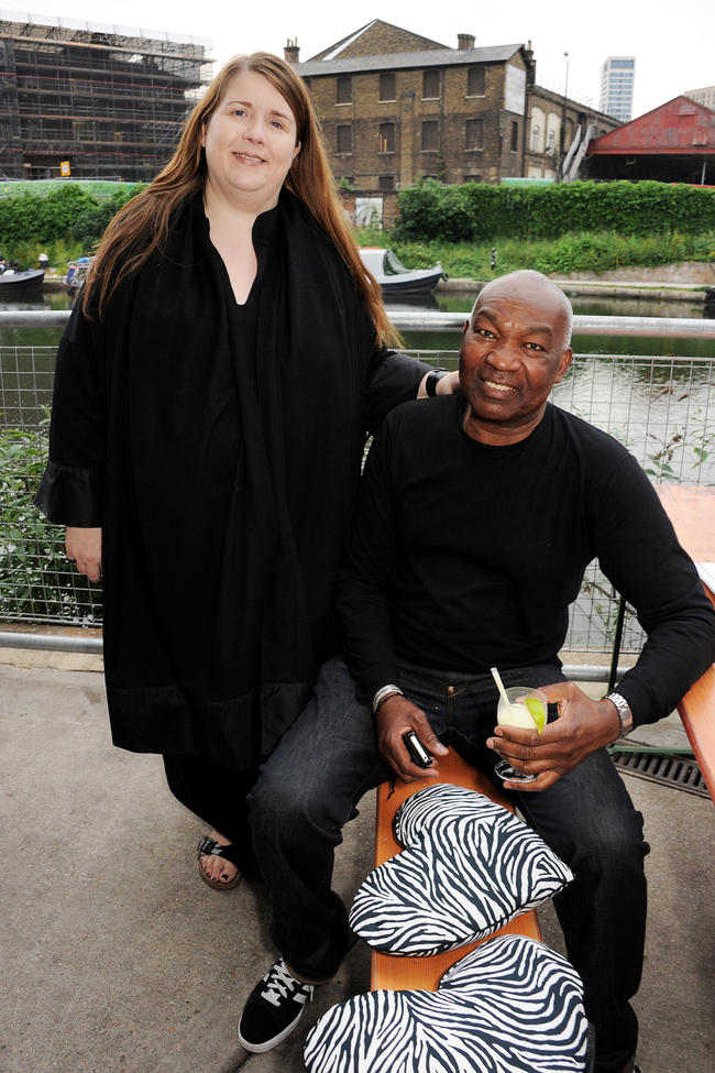 Louise Wilson and her husband, Timmi Aggrey