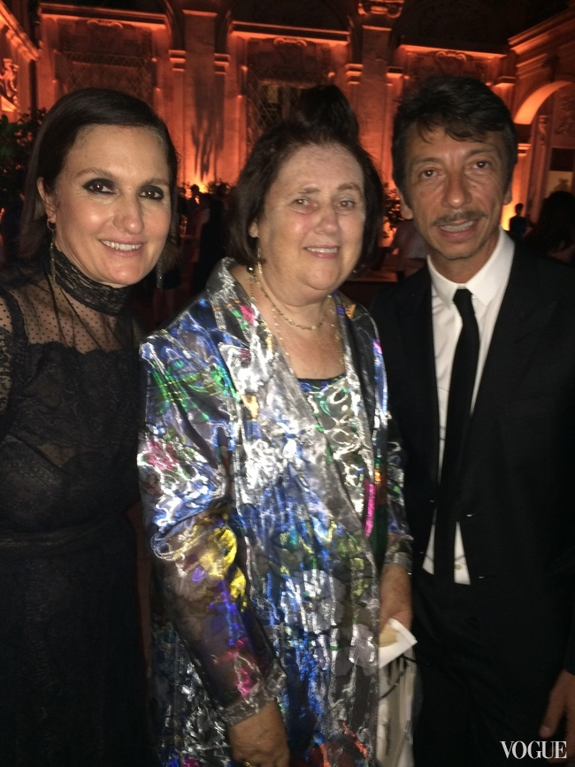 Suzy Menkes with Maria Grazia Chiuri and Pierpaolo Piccioli, Creative Directors of Valentino