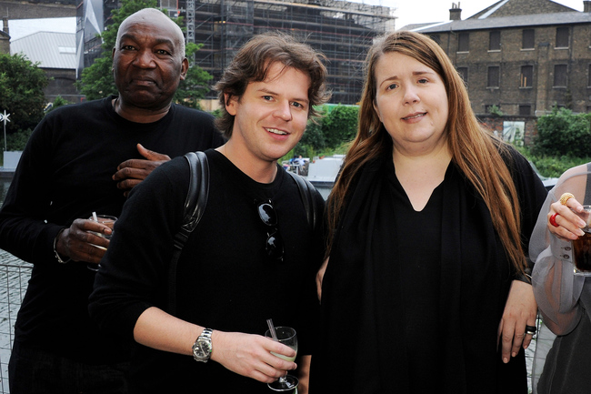 Louise, partner Timmi Aggrey and Christopher Kane (centre)