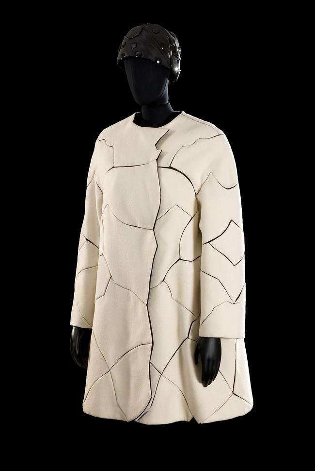 A Roberto Capucci cracked coat, 1969