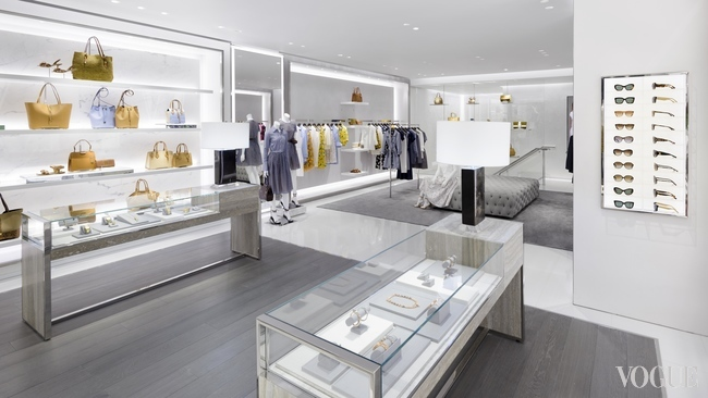 The interior of the new store which carries ready-to-wear and accessories from Michael Kors Collection, as well as watches, jewellery, footwear, fragrances and eyewear