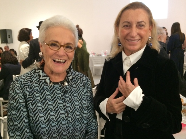 Rosita Missoni and Miuccia Prada enjoy the Bellissima exhibition